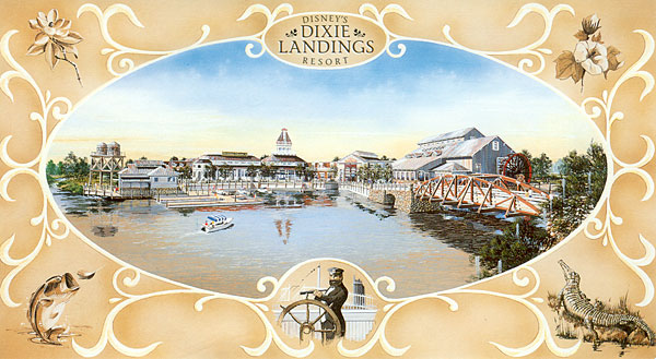 Dixie Landings Postcard