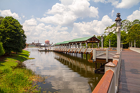 The new ferry dock at Disney Springs (opened August 2014)