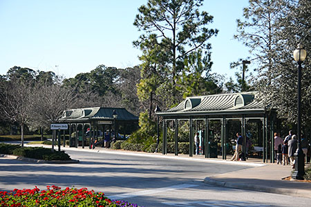 The two Port Orleans French Quarter bus stations