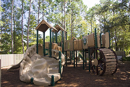 Port Orleans Riverside playground, located on Ol' Man Island