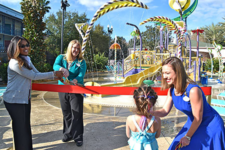 French Quarter Aquatic Play Area Opening Ceremony, 7 March.<br>[Photo (c) MouseSteps.com]