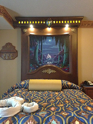 Royal Guest Room, showing Queen Bed and Illuminated Headboard