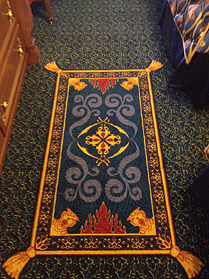Royal Guest Room, Aladdin's 'carpet' detail