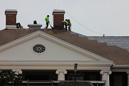 Magnolia Terrace roofing work, 31 Jan