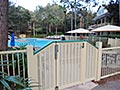 Port Orleans Riverside leisure pools, with newly added Perimeter Fences