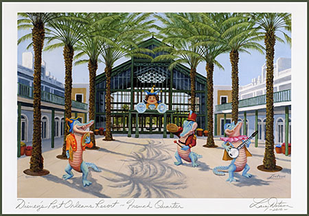 Larry Dotson's Port Orleans French Quarter artwork, two sizes, $25/$35