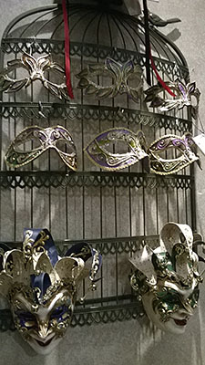 Port Orleans French Quarter Mardi Gras style masks