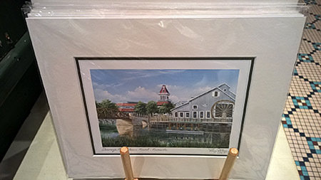 Port Orleans Riverside Larry Dotson artwork (large size), $35