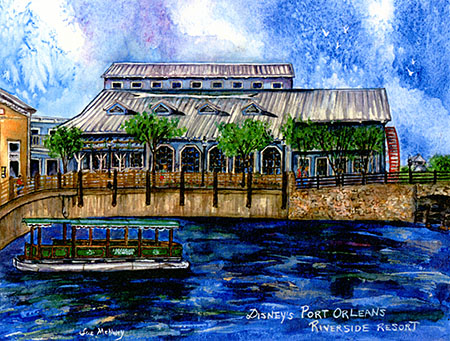 Sue McNulty Port Orleans Riverside artwork, no longer available to purchase